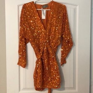 ASOS Orange Sequin Dress